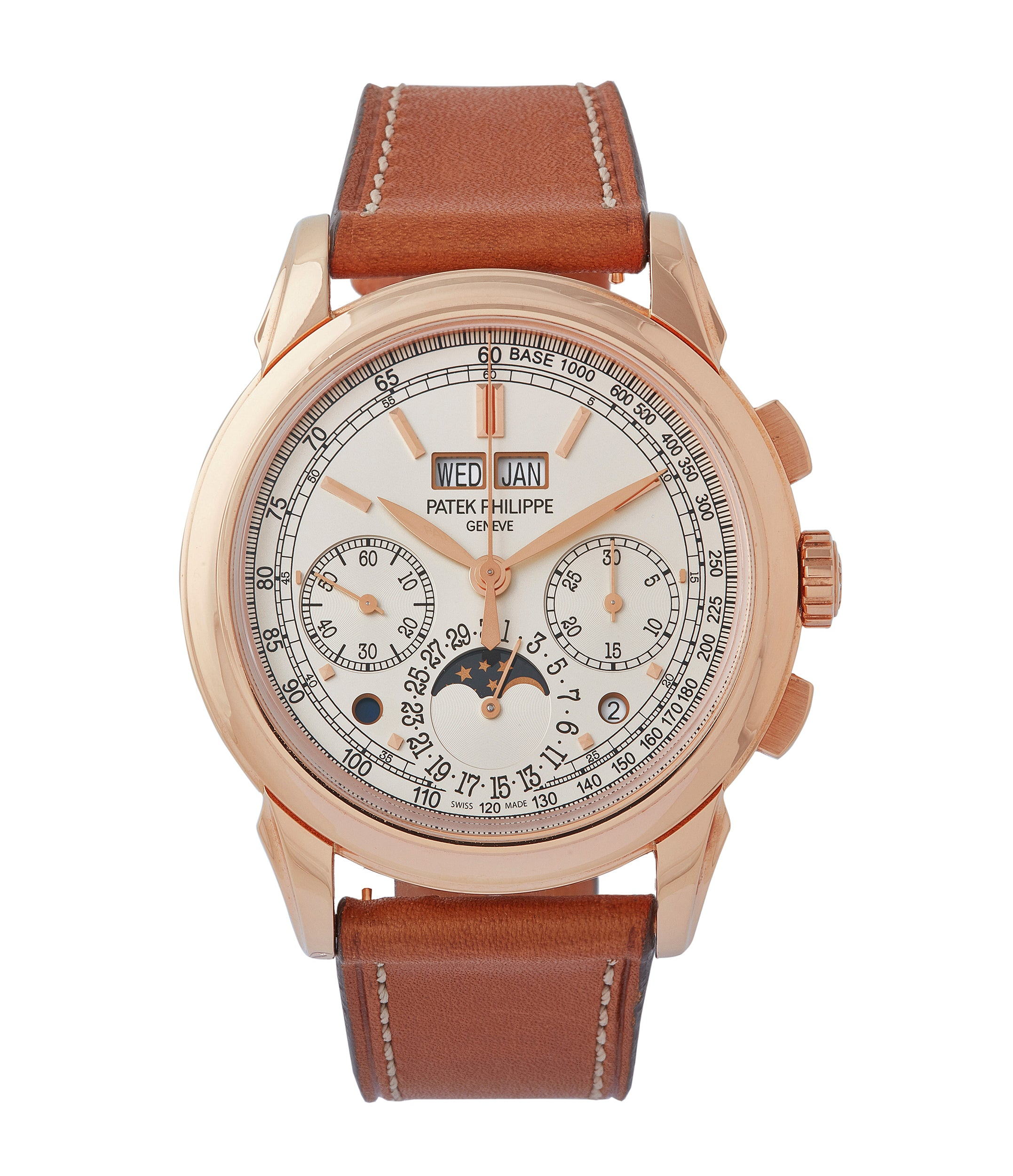 buy Patek Philippe 5270R Grand Complications Perpetual Calendar Chronograph rose gold dress watch for sale online at A Collected Man London UK specialist of rare watches