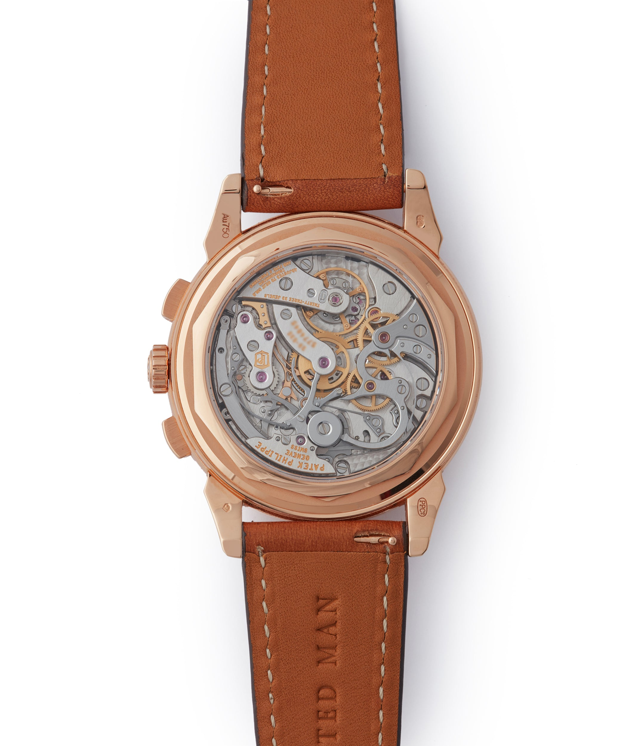 manual-winding 29-535 PS Patek Philippe 5270R Grand Complications Perpetual Calendar Chronograph rose gold dress watch for sale online at A Collected Man London UK specialist of rare watches