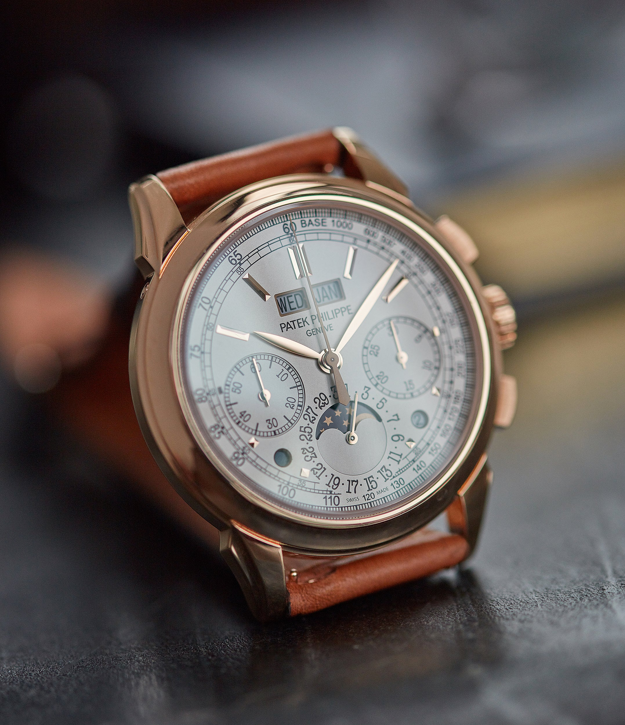 Patek Philippe Grand Complications full rose gold 5270R-001 Perpetual Calendar Chronograph dress watch for sale online at A Collected Man London UK specialist of rare watches