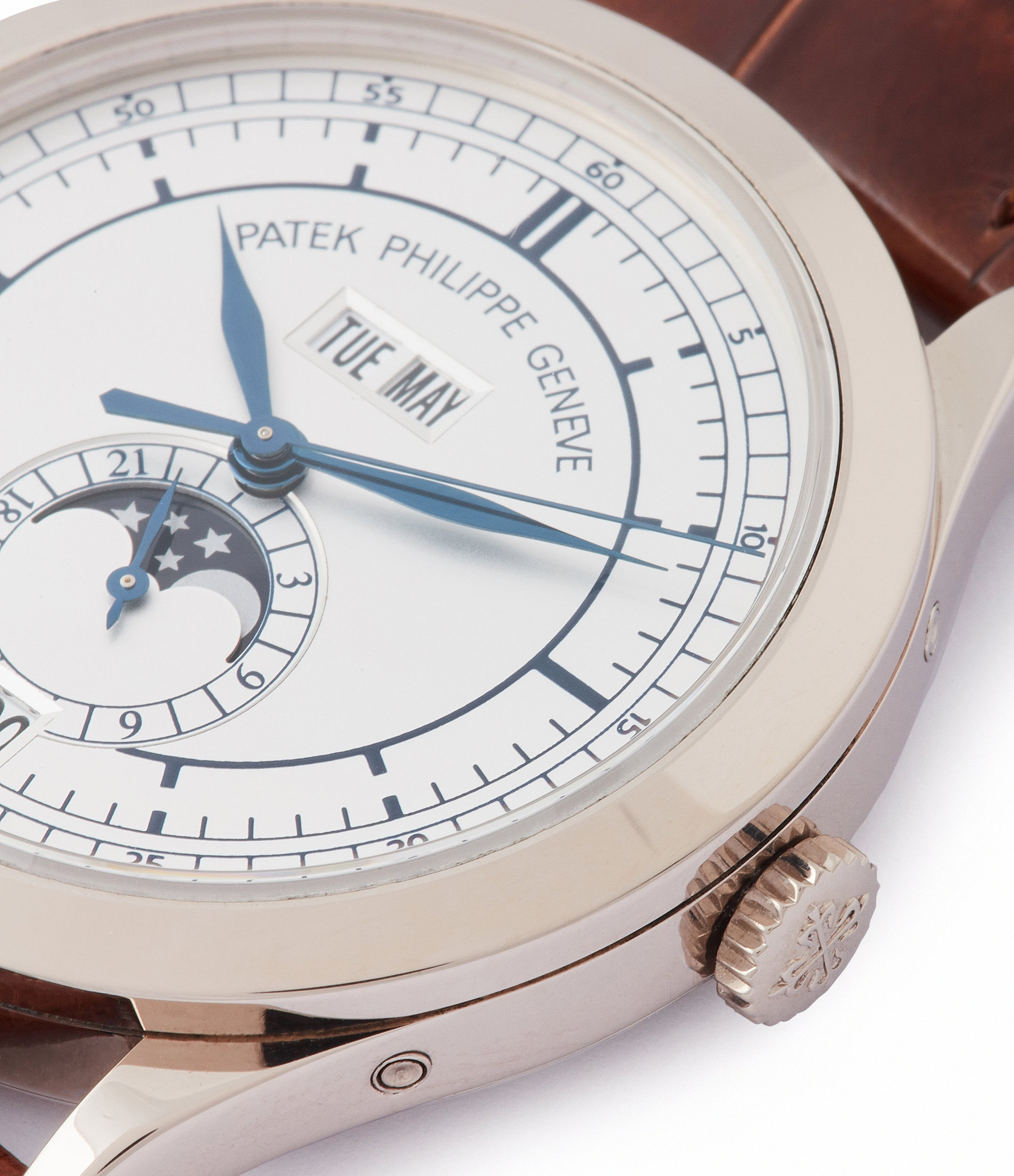 sell Patek Philippe 5396G-001 Annual Calendar pre-owned rare white gold dress watch for sale online at A Collected Man London UK specialist of rare watches