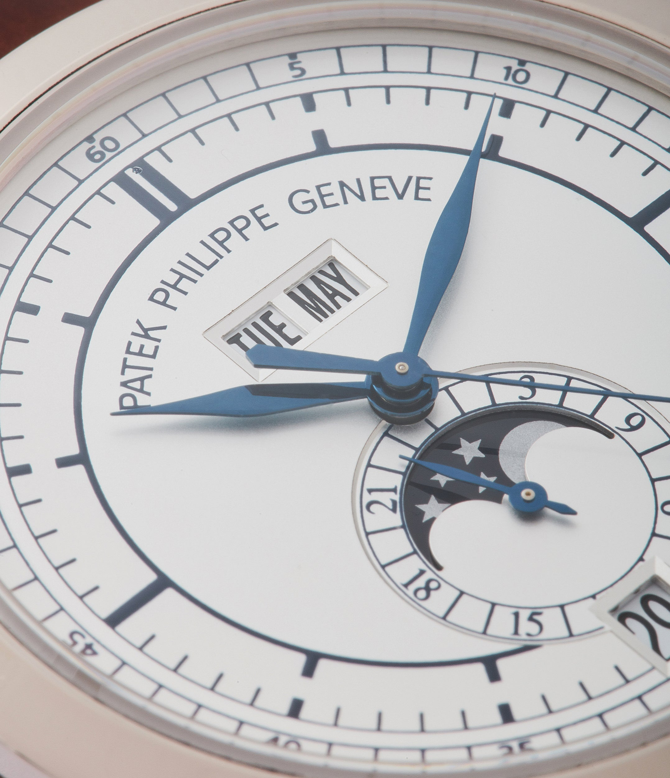 buying Patek Philippe 5396G-001 Annual Calendar pre-owned rare white gold dress watch for sale online at A Collected Man London UK specialist of rare watches
