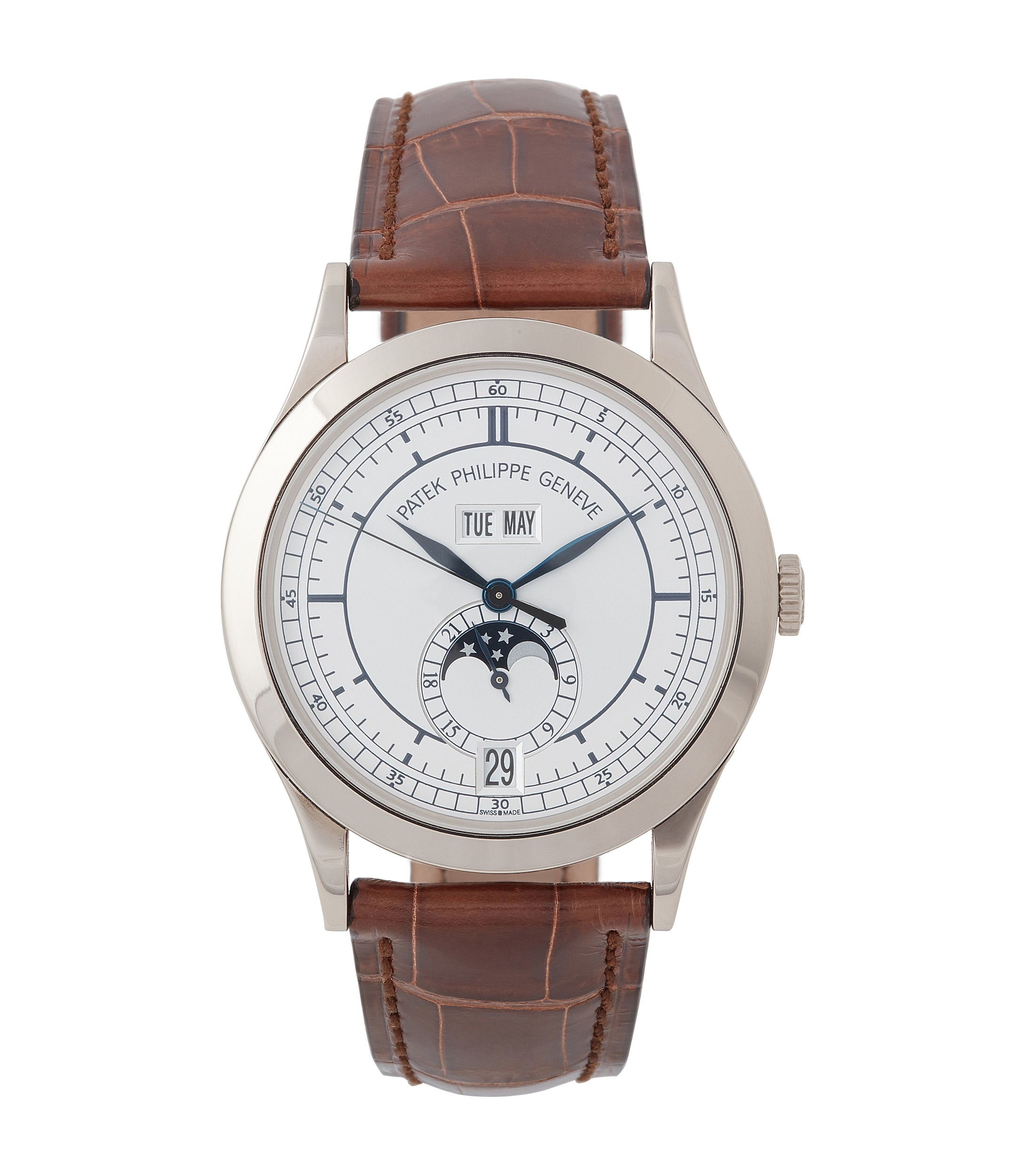 buy Patek Philippe 5396G-001 Annual Calendar pre-owned rare white gold dress watch for sale online at A Collected Man London UK specialist of rare watches