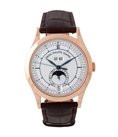 buy Patek Philippe 5396R-001 Annual Calendar rose gold luxury pre-owned dress watch for sale online  at A Collected Man London UK specialist of rare watches