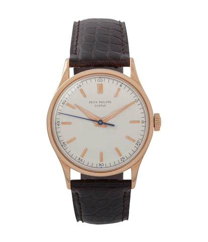 buy vintage Patek Philippe 570R-SCI time-only rose gold dress watch Cal. 27SC with Archive Extracts for sale online at A Collected Man London UK specialist of rare watches