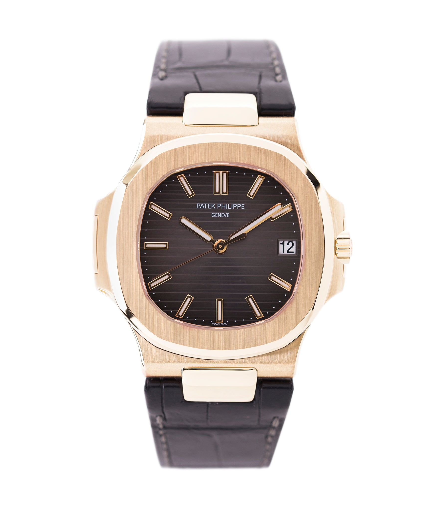 buy preowned Patek Philippe Nautilus 5711 rose gold dress watch chocolate brown dial for sale online at A Collected Man London UK specialist of rare watches