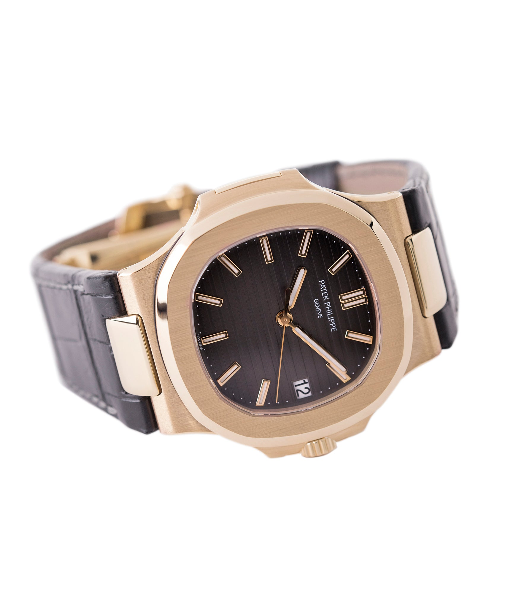 sell preowned Patek Philippe Nautilus 5711 rose gold dress watch chocolate brown dial for sale online at A Collected Man London UK specialist of rare watches