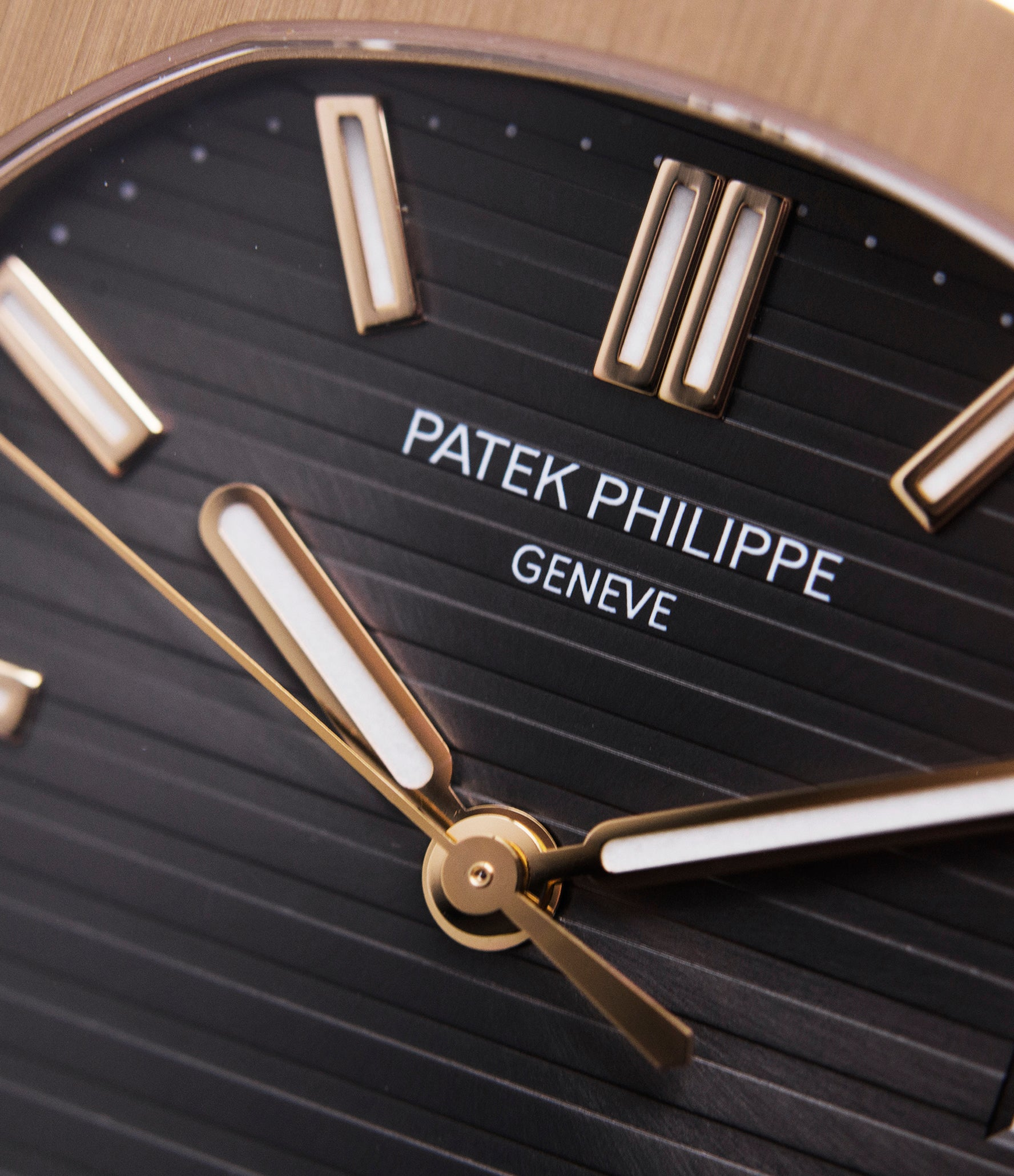 Patek Philippe brown dial Nautilus 5711 rose gold dress watch for sale online at A Collected Man London UK specialist of rare watches
