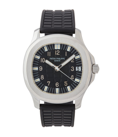 buy Patek Philippe Aquanaut 5065A steel sport watch full set for sale online at A Collected Man London UK specialist of rare watches