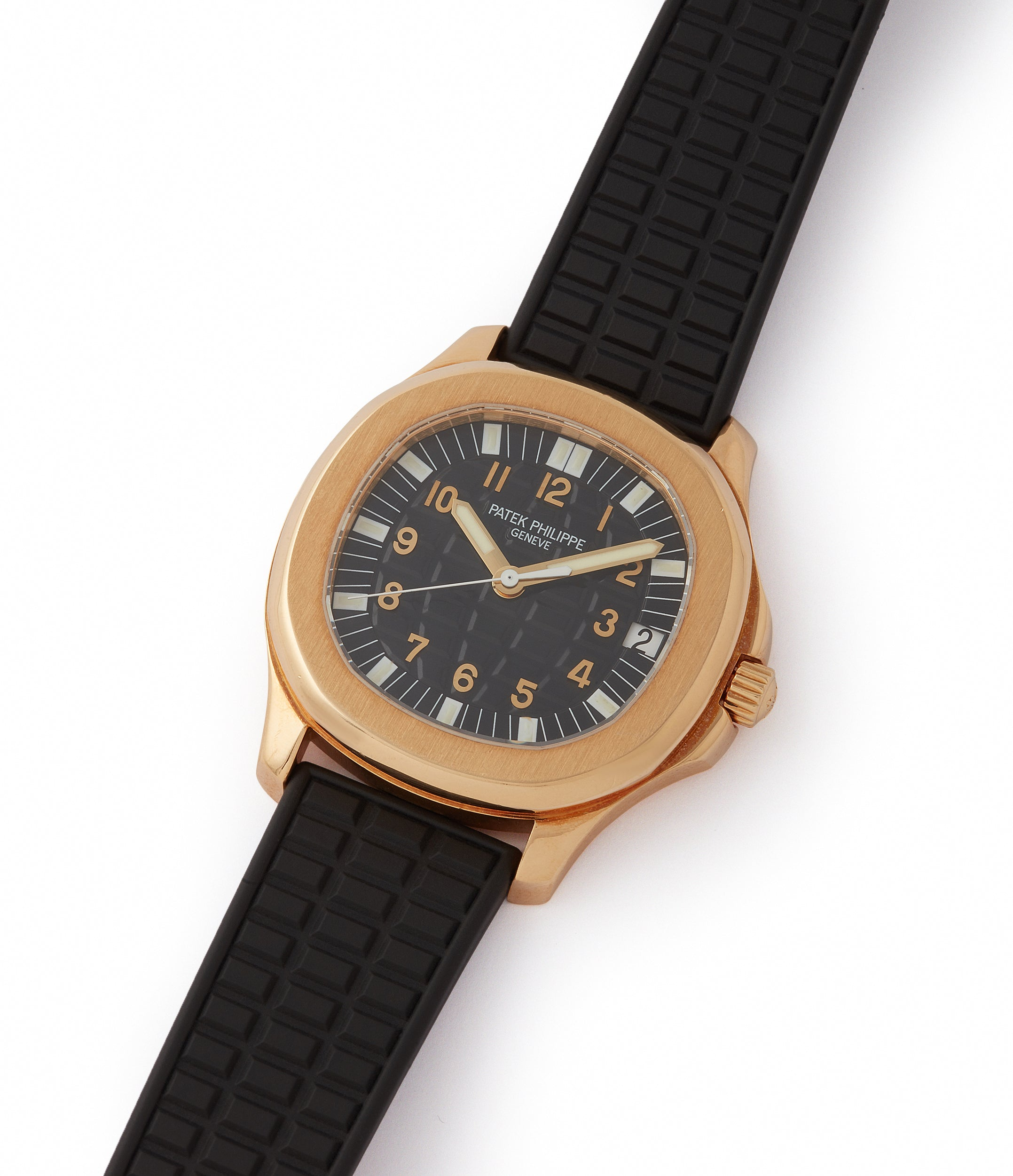 Aquanaut Patek Philippe 5065J yellow gold luxury sport watch for sale online at A Collected Man London UK specialist of rare watches