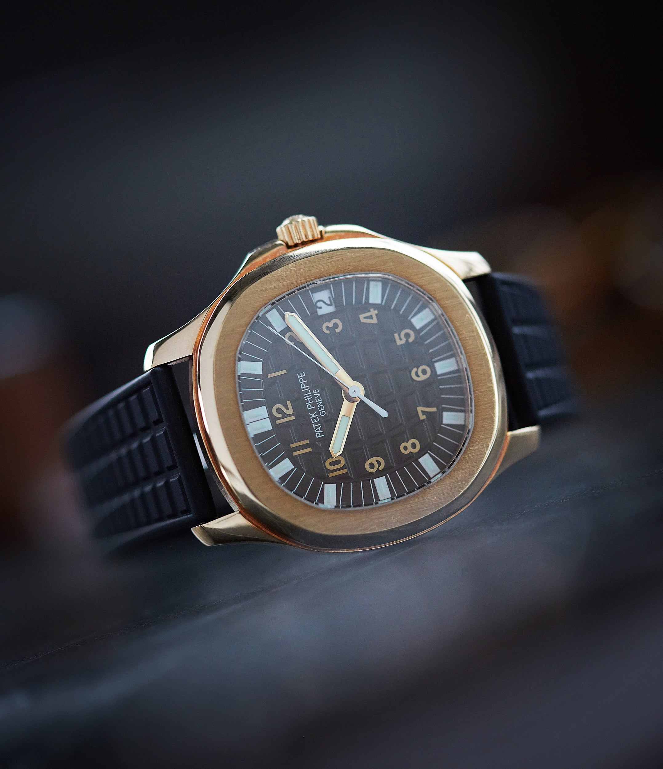 shop Patek Philippe Aquanaut 5065J yellow gold luxury sport watch for sale online at A Collected Man London UK specialist of rare watches