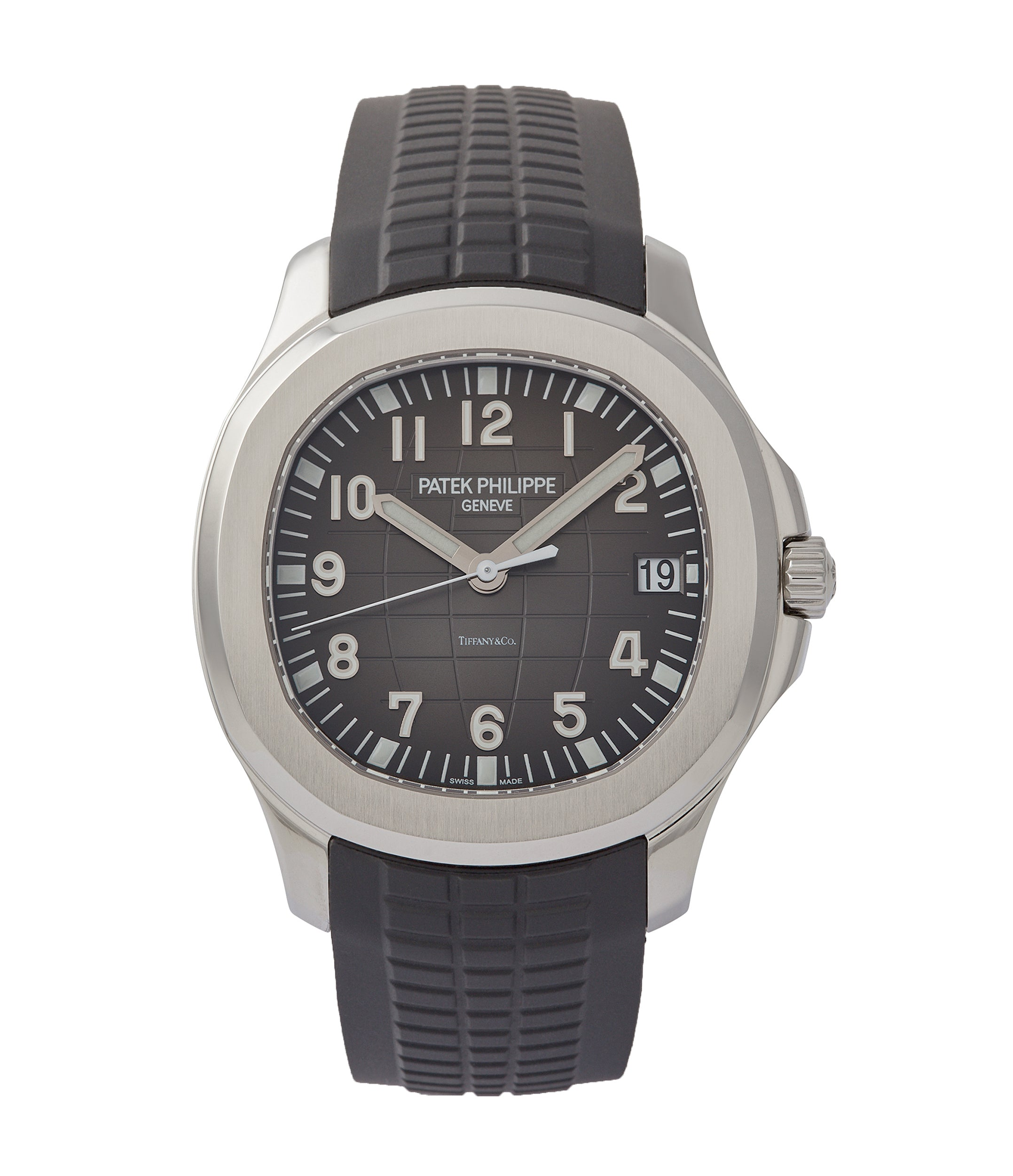buy Patek Philippe Aquanaut 5167A-001 double Tiffany-signed luxury sports watch for sale online A Collected Man London UK specialist rare watches