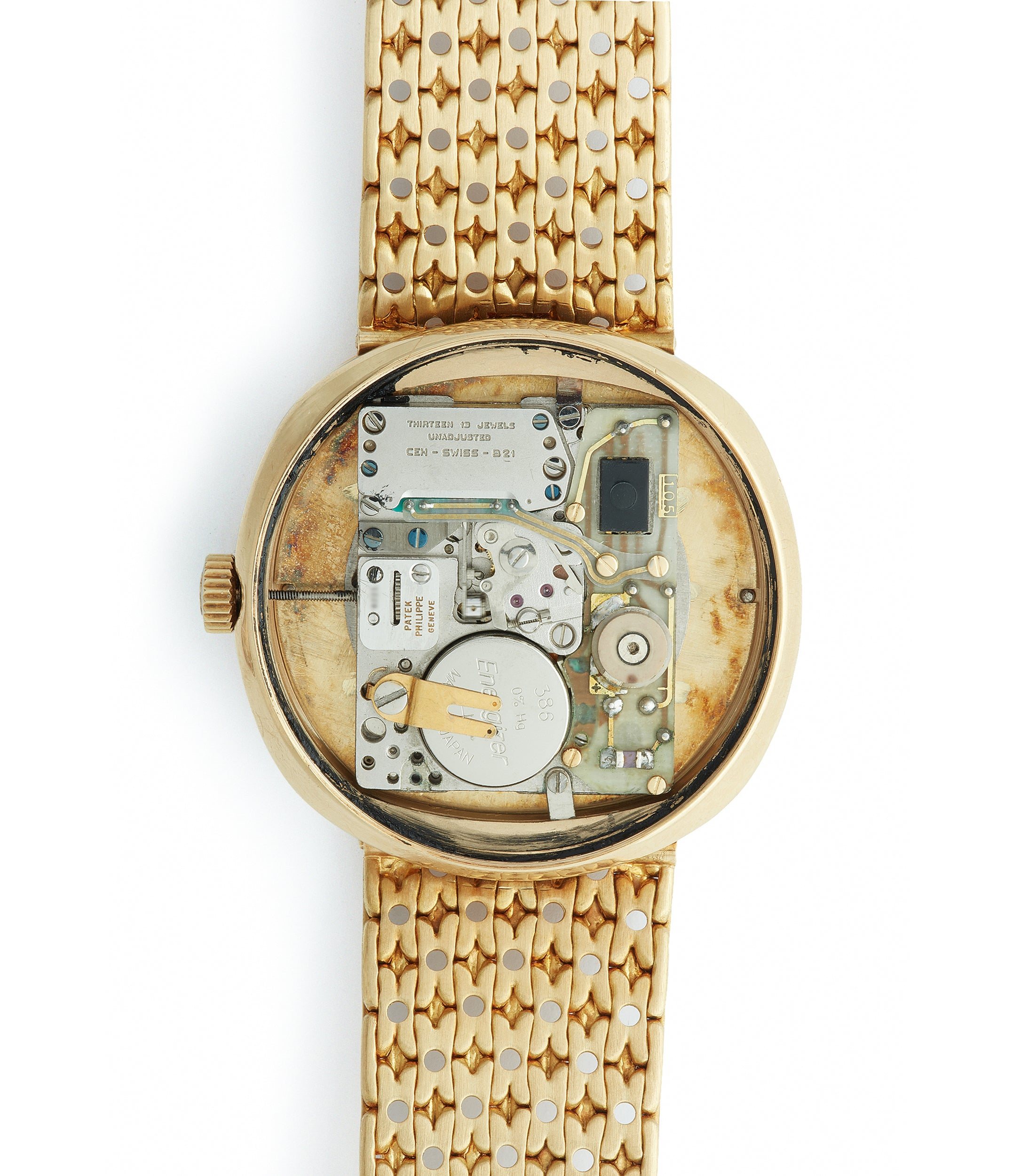 Beta 21 quartz Patek Philippe 3597 yellow gold 1970s dress watch for sale online A Collected Man London UK specialist of rare watches