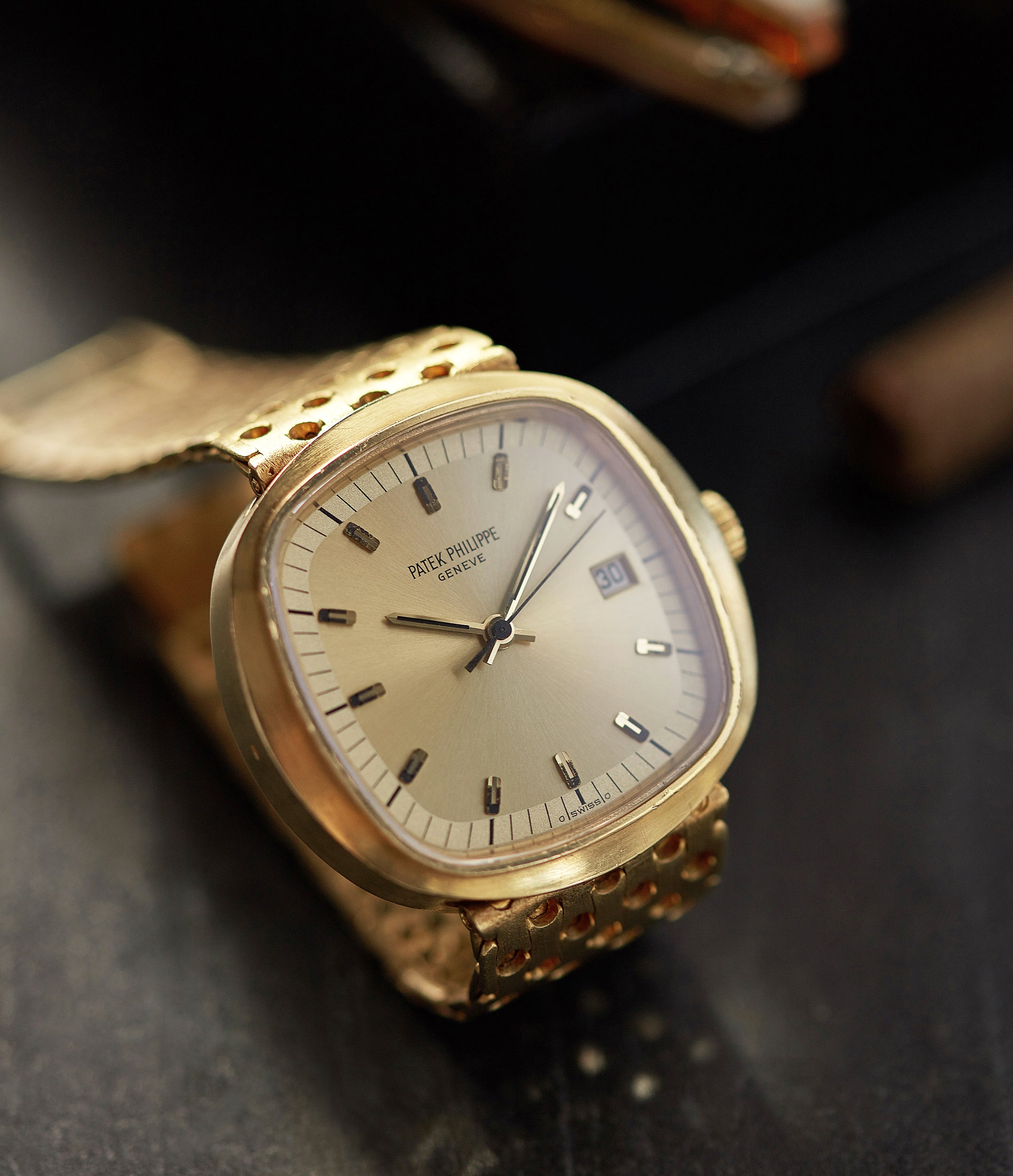 rare Patek Philippe 3597 Beta 21 yellow gold 1970s dress watch for sale online A Collected Man London UK specialist of rare watches