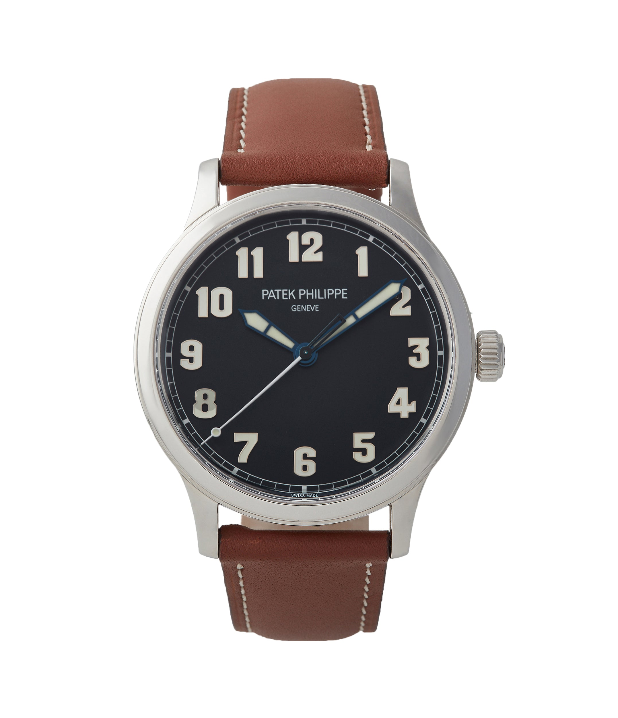 buy Patek Philippe Calatrava Pilot's 5522A-001 time-only pre-owned watch for sale online at A Collected Man London UK specialist