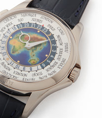 for sale Patek Philippe World Time 5131G enamel dial white gold watch for sale online at A Collected Man London UK specialist of rare watches