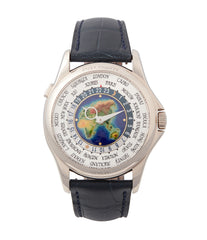 buy Patek Philippe World Time 5131G enamel dial white gold watch for sale online at A Collected Man London UK specialist of rare watches