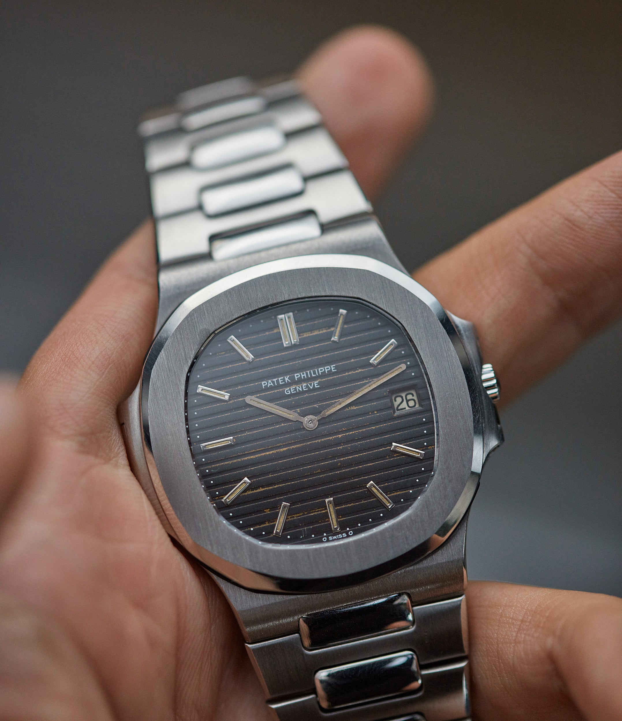 selling Patek Philippe Nautilus 3700/001A vintage steel tropical dial sports watch for sale online A Collected Man London UK specialist rare watches