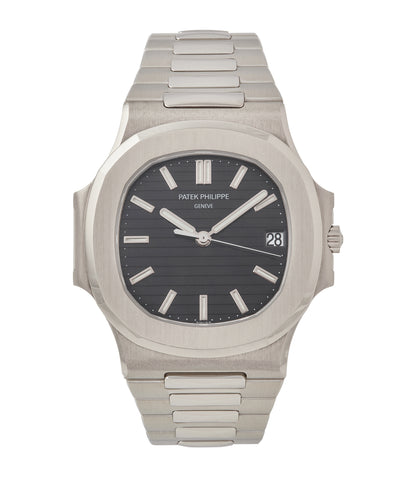 buy Patek Philippe Nautilus 3711/1G-001 white gold pre-owned watch for sale online at A Collected Man London UK specialist of rare watches
