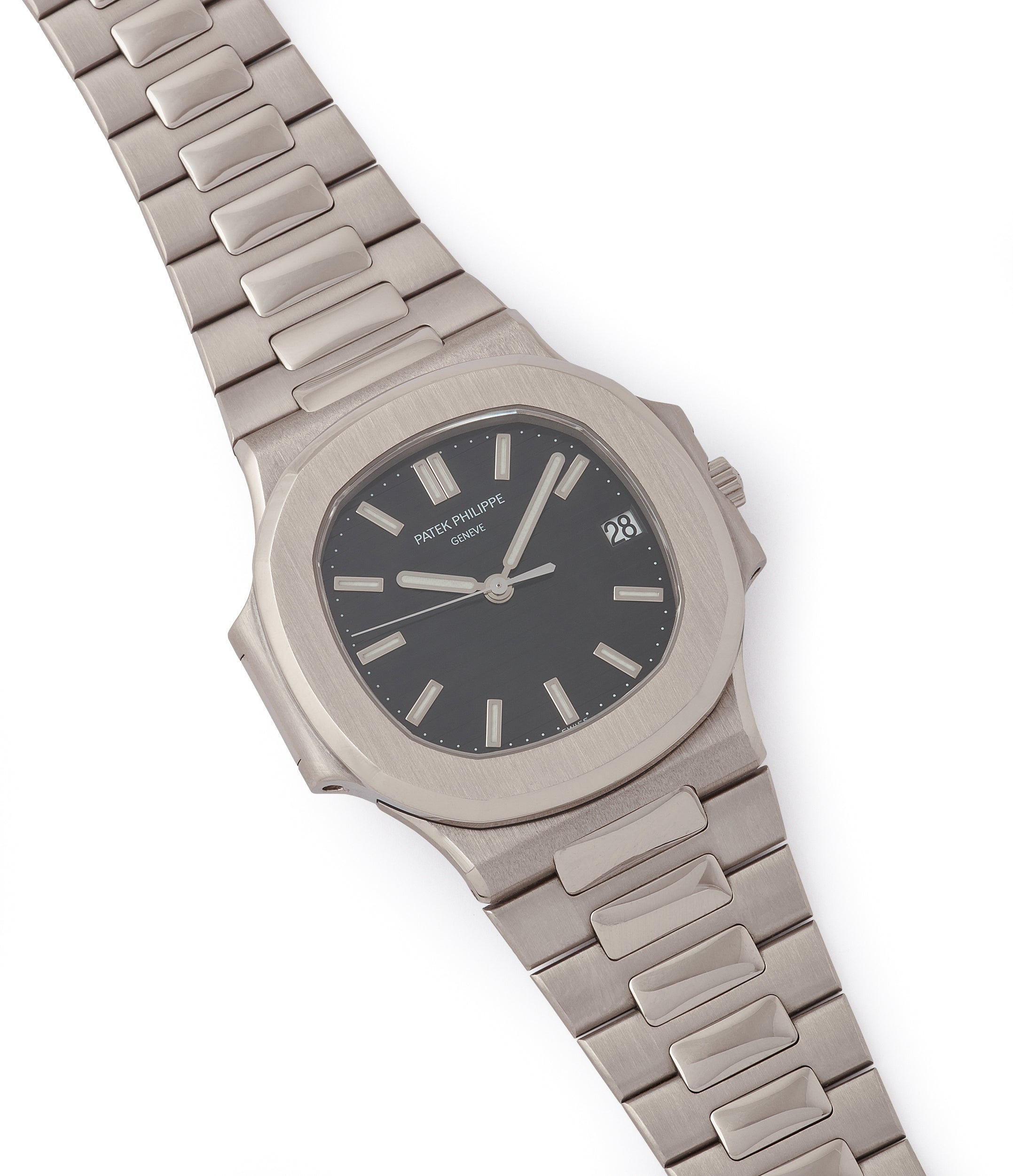 selling Patek Philippe Nautilus 3711/1G-001 white gold pre-owned watch for sale online at A Collected Man London UK specialist of rare watches