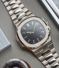 3711 Patek Philippe Nautilus white gold pre-owned watch for sale online at A Collected Man London UK specialist of rare watches