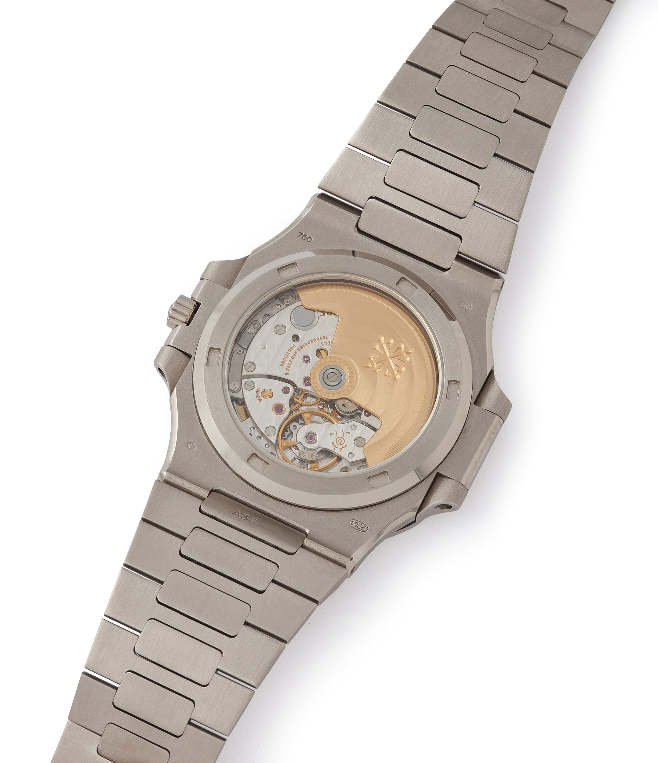 Patek Philippe movement Nautilus 3711/1G-001 white gold pre-owned watch for sale online at A Collected Man London UK specialist of rare watches