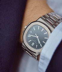 Patek Philippe wristwatch Nautilus 3711/1G-001 white gold pre-owned watch for sale online at A Collected Man London UK specialist of rare watches