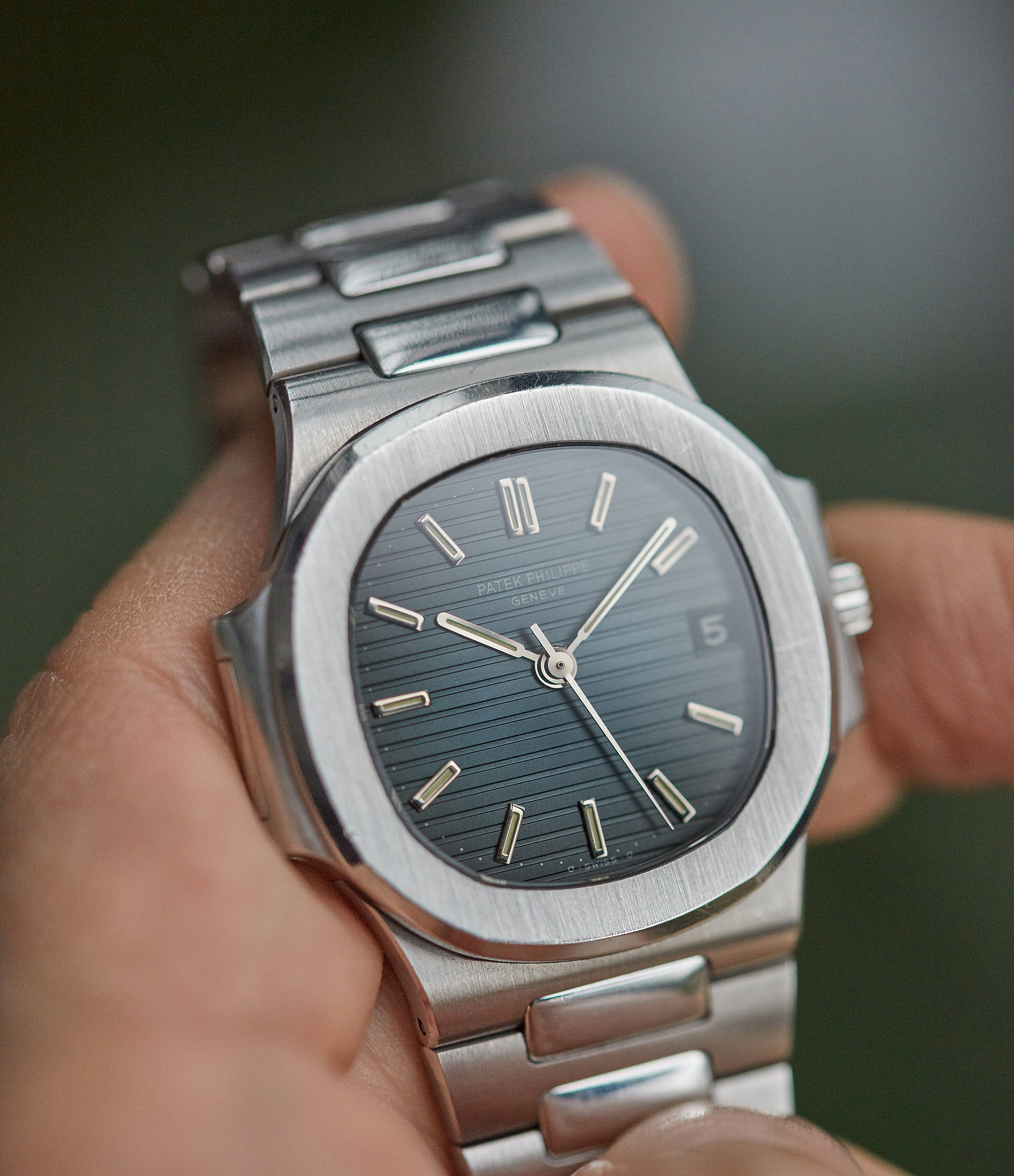 vintage Patek Philippe Sigma dial Nautilus 3800A steel sports watch shop online rare watch A Collected Man London