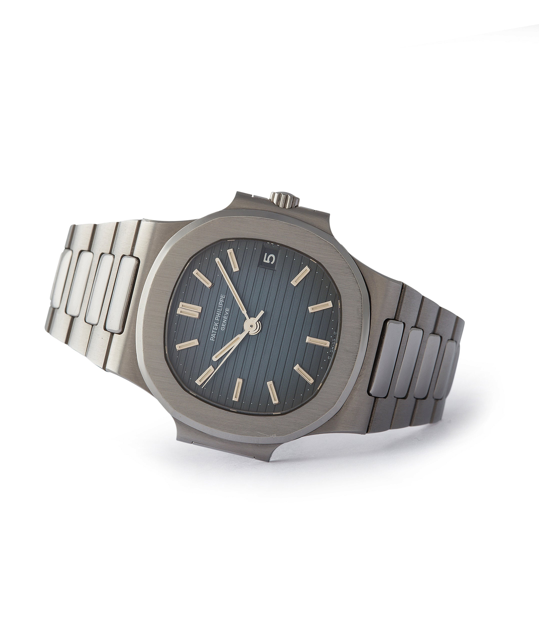 side-shot rare Patek Philippe Nautilus 3800A sports watch shop online rare watch A Collected Man London