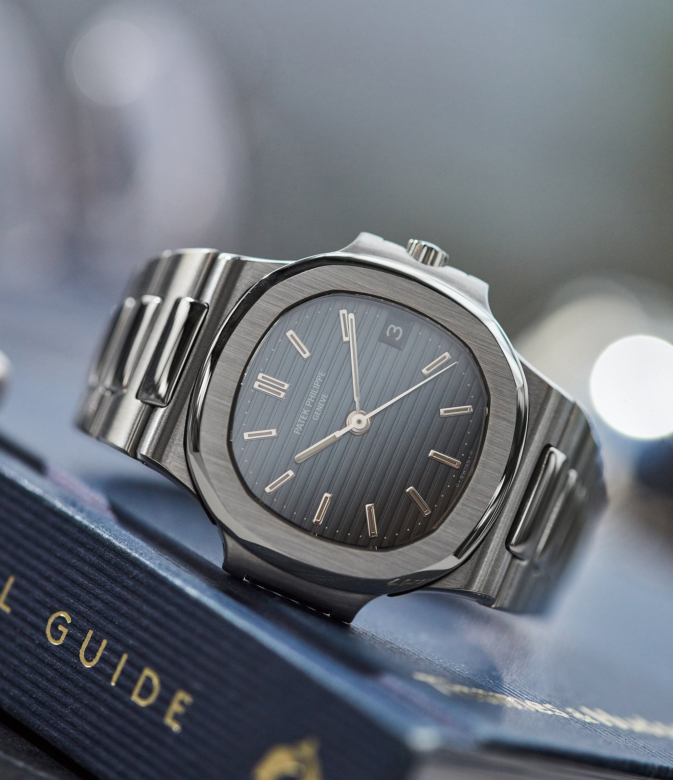 vintage Patek Philippe Nautilus 3800 Sigma dial steel luxury sports watch for sale online A Collected Man London UK specialist rare watches