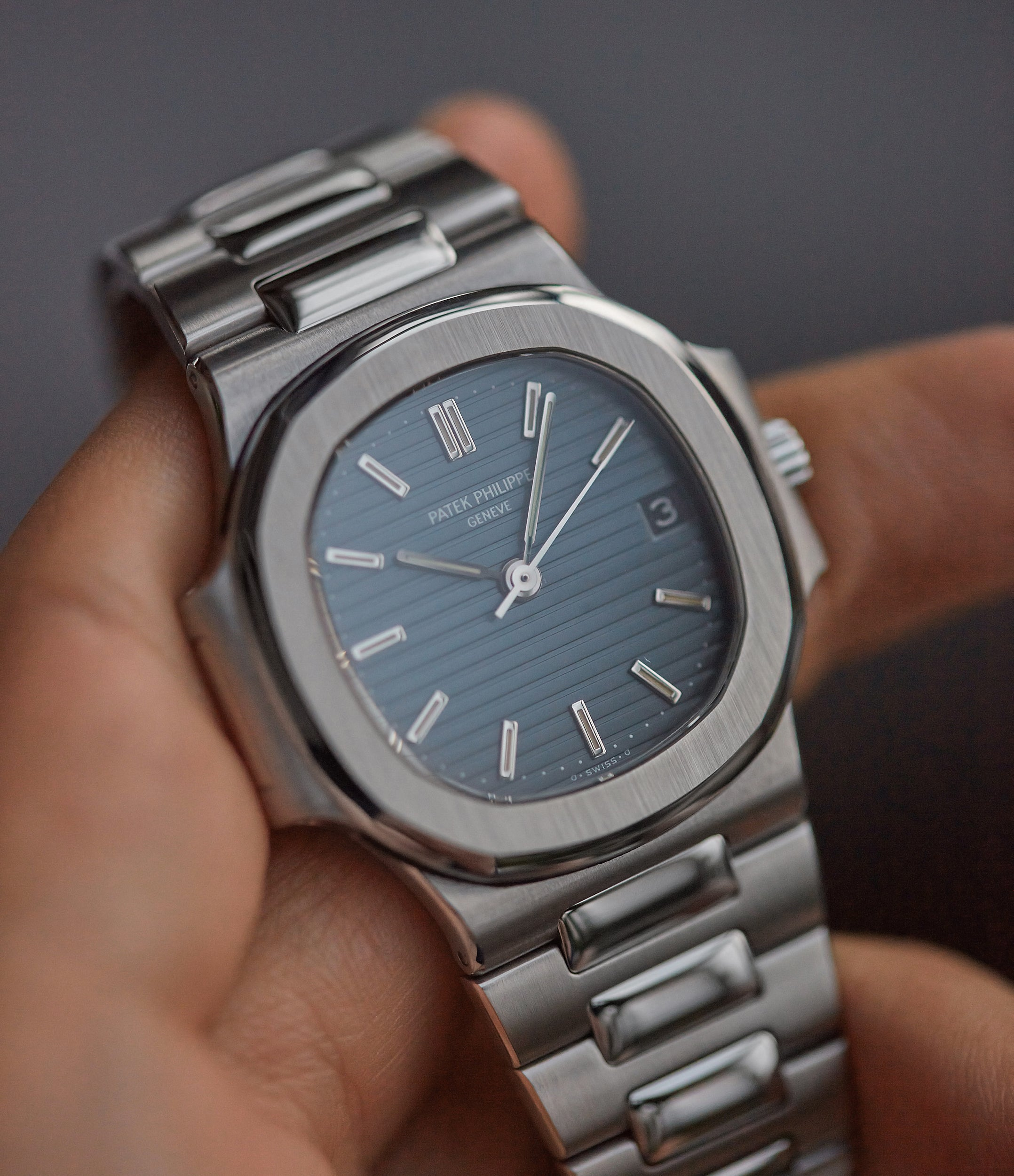 shop pre-owned Patek Philippe Nautilus 3800 Sigma dial steel luxury sports watch for sale online A Collected Man London UK specialist rare watches