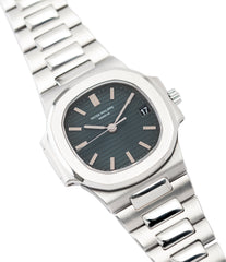 buying Patek Philippe Nautilus 3800/1 steel vintage luxury watch online at A Collected Man London UK specialised  seller of rare watches