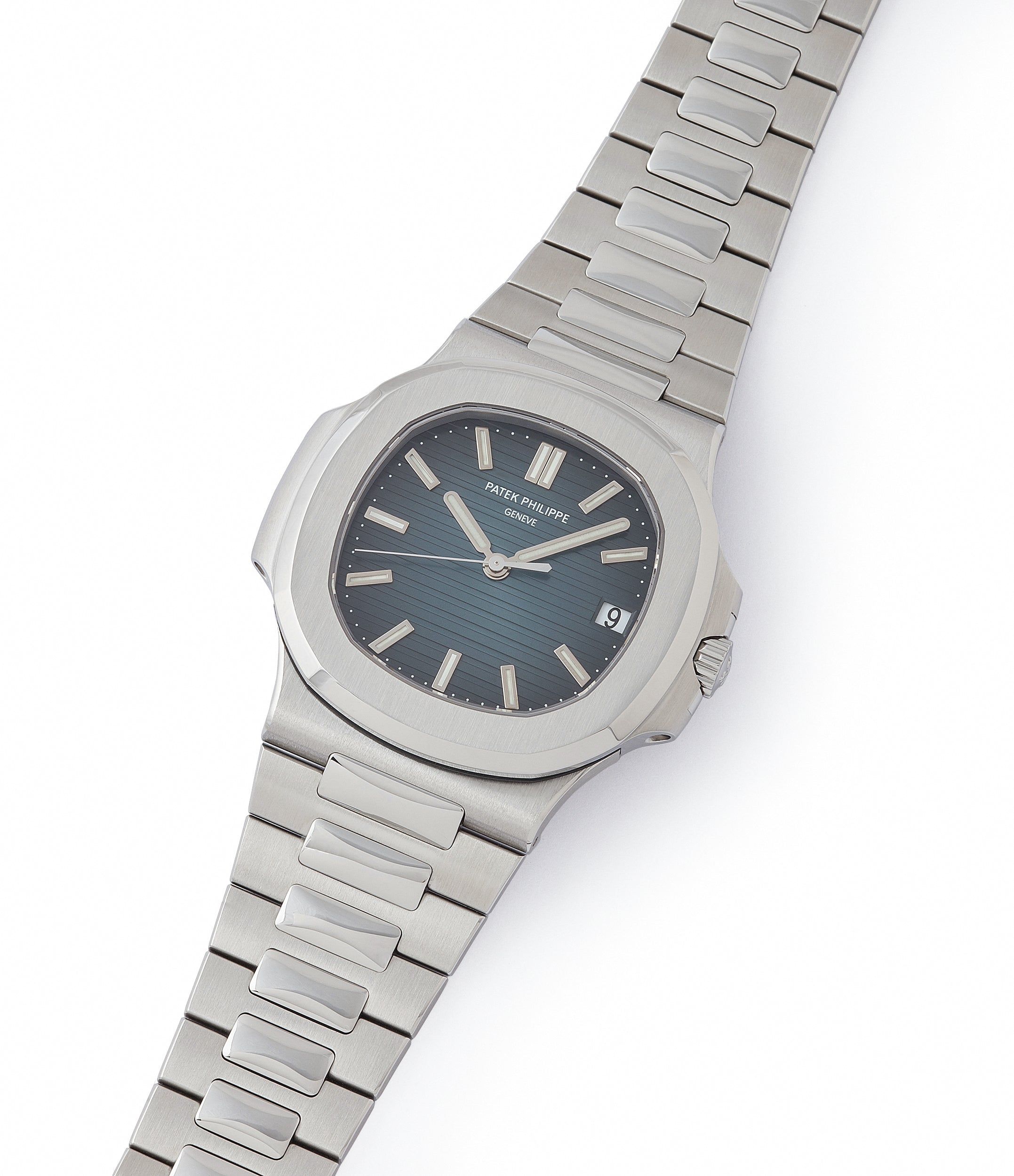 shop Patek Philippe London Jumbo Nautilus 5711/1A-001 steel pre-owned sport watch for sale online at A Collected Man London UK specialist of rare watches