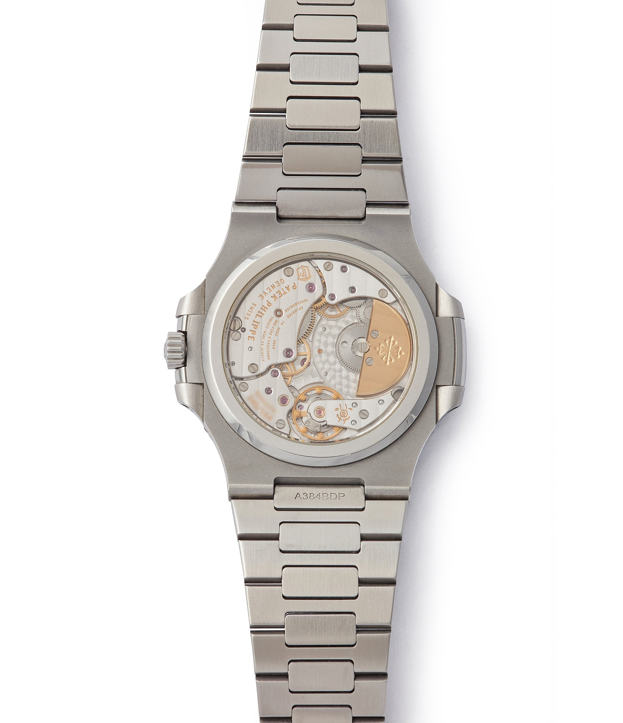 Calibre 240 PS automatic Patek Philippe Nautilus 5712/1A-001 steel moon phase luxury sports watch for sale online A Collected Man London UK specialist rare watches