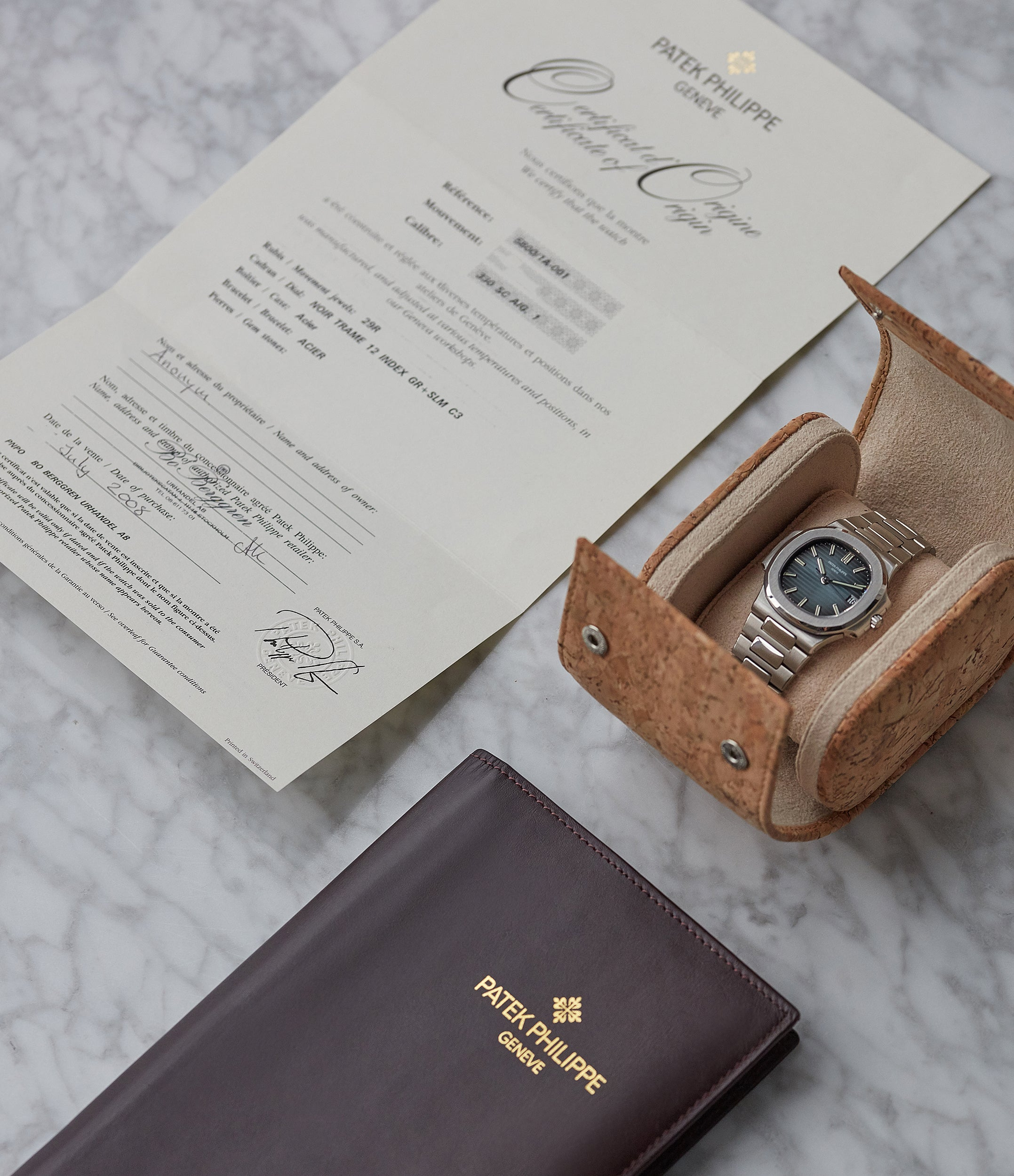 full set Patek Philippe Nautilus 5800/1A-001 steel sport pre-owned watch for sale online at A Collected Man London UK specialist of rare watches