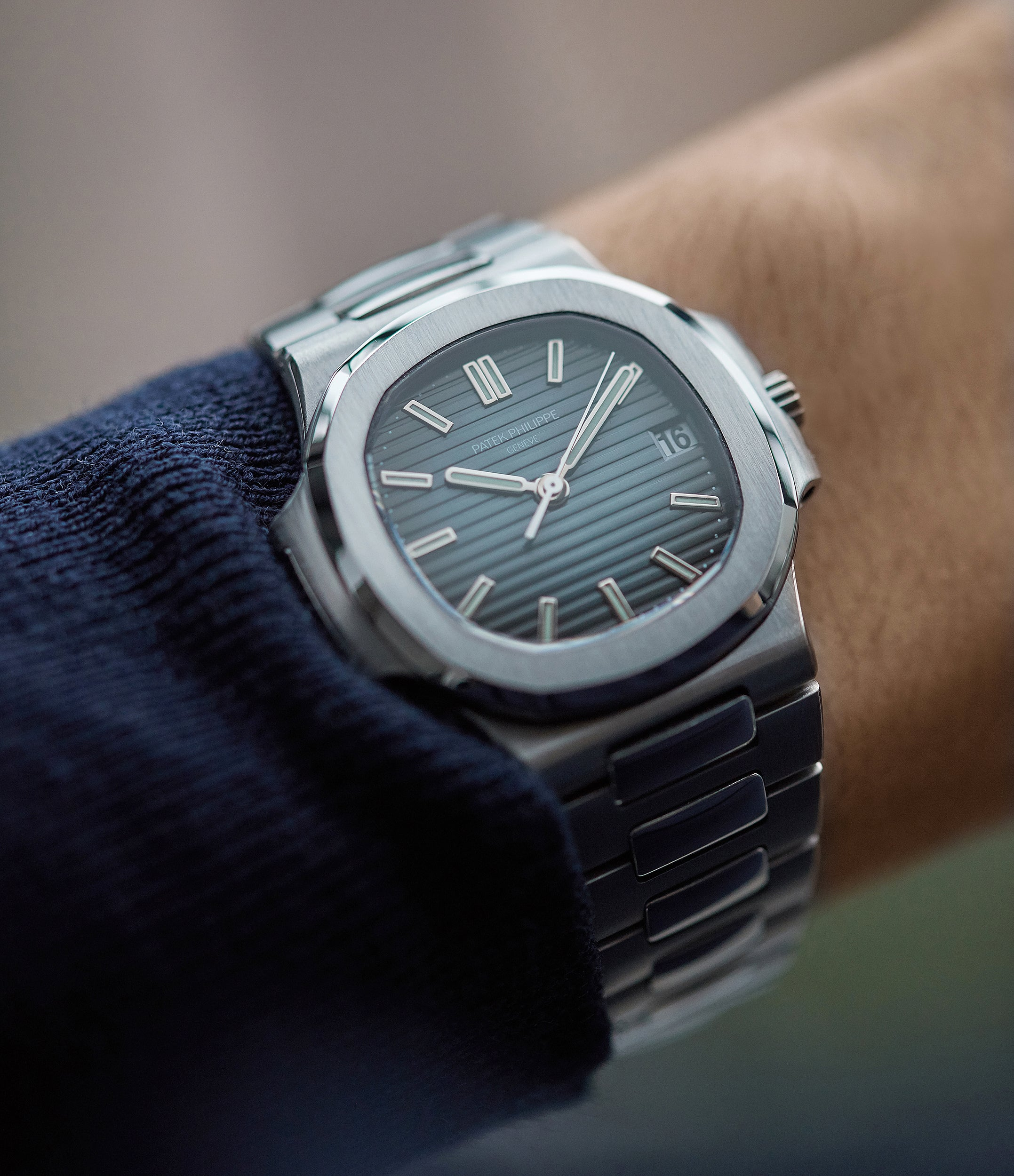 luxury sports watch Patek Philippe Nautilus 5800/1A-001 steel pre-owned watch for sale online at A Collected Man London UK specialist of rare watches