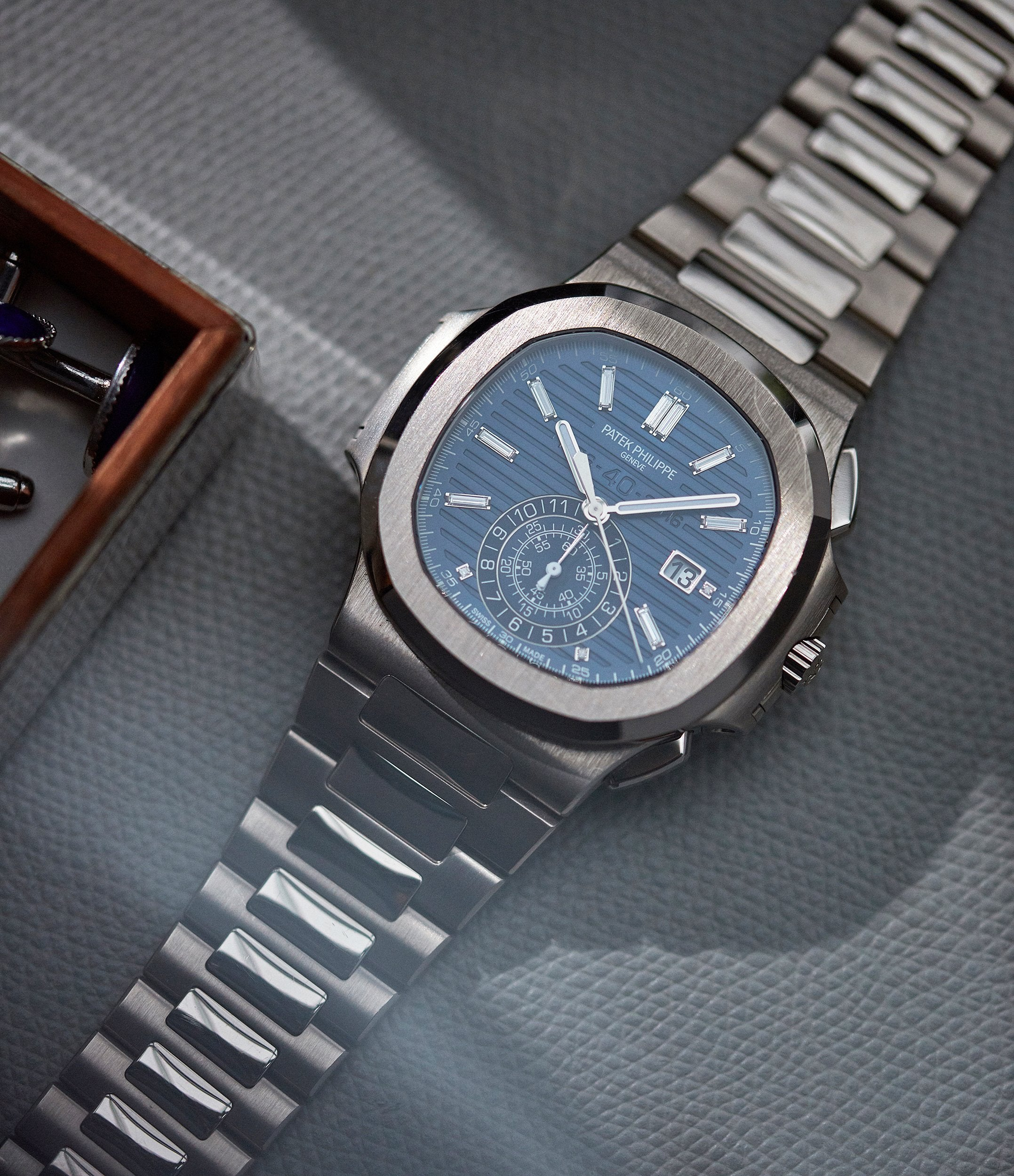 Limited Edition Patek Philippe 40th Anniversary Nautilus 5976/1G-001 white gold sports watch for sale online A Collected Man London