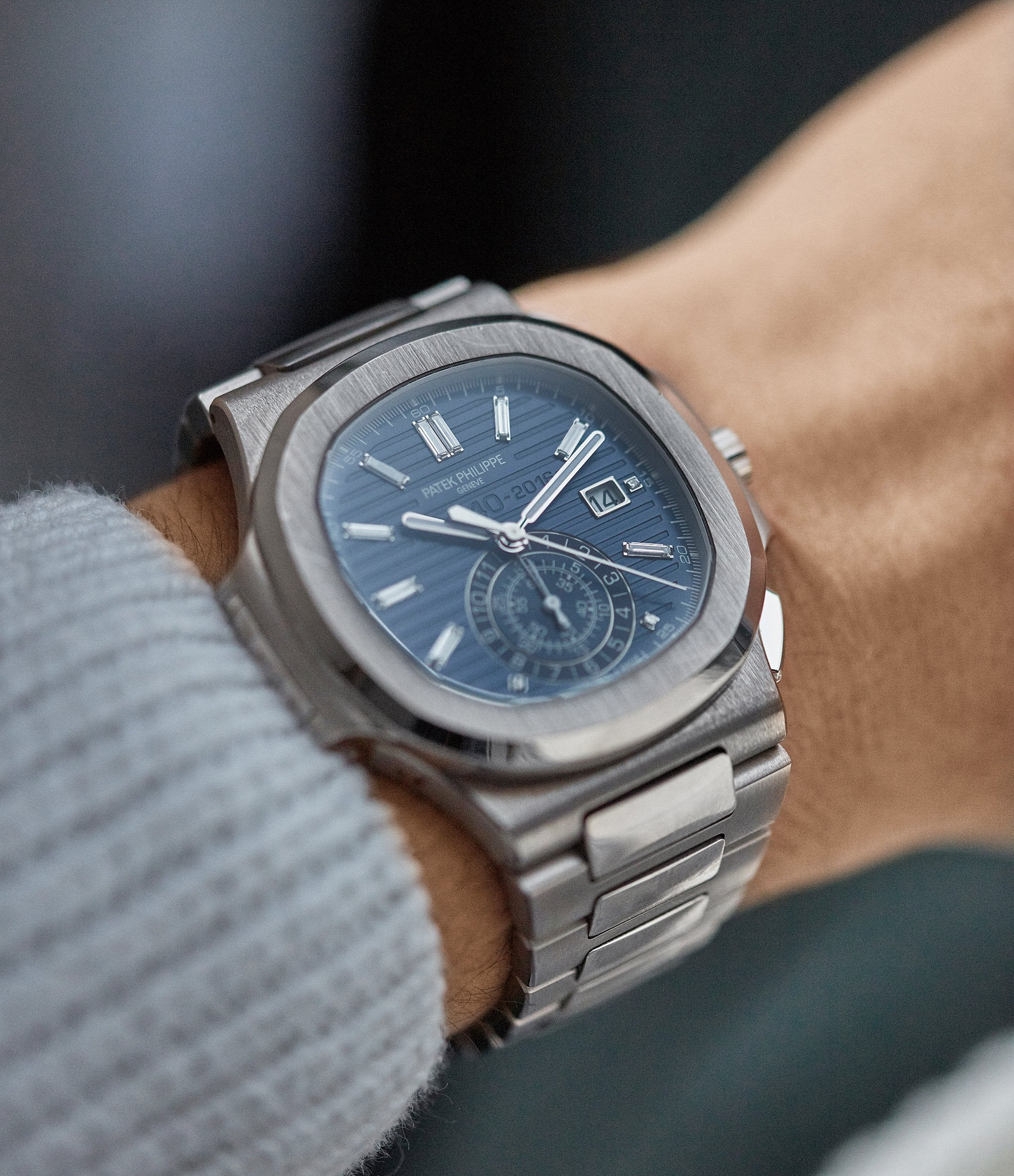 rare Patek Philippe 40th Anniversary Nautilus 5976/1G-001 Limited Edition white gold sports watch for sale online A Collected Man London