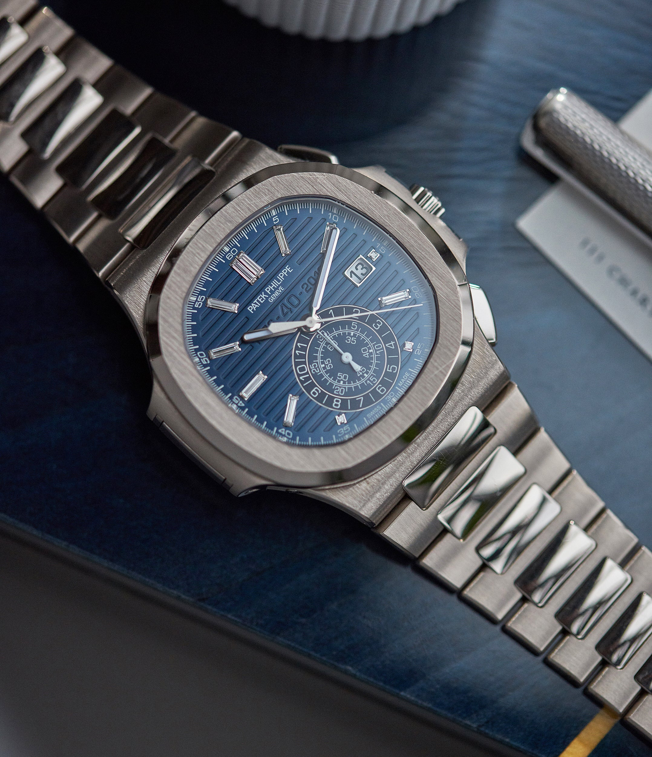 pre-owned Patek Philippe 40th Anniversary Nautilus 5976/1G-001 Limited Edition white gold sports watch for sale online A Collected Man London