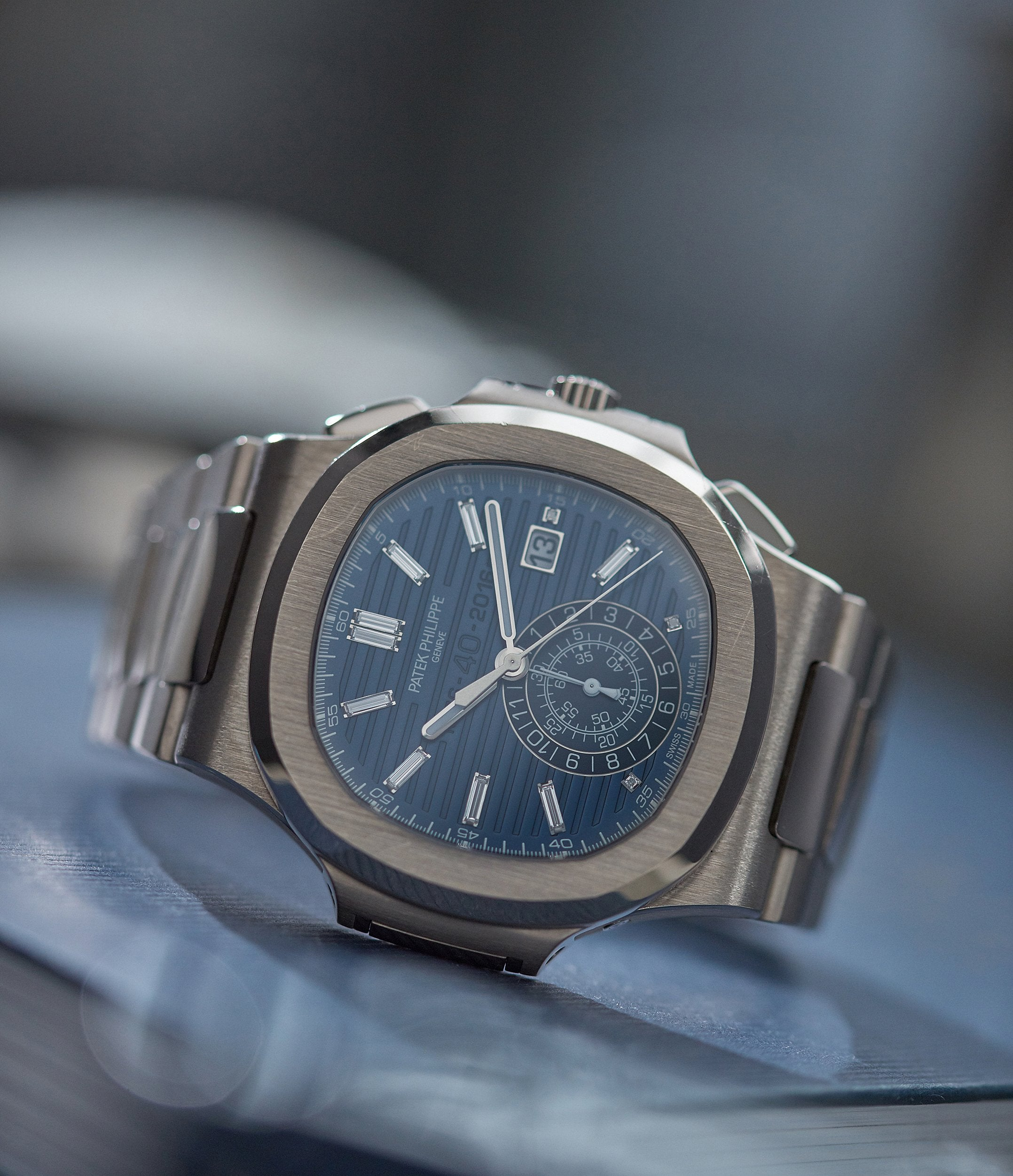 Ref. 5976 Patek Philippe 40th Anniversary Nautilus Limited Edition white gold sports watch for sale online A Collected Man London