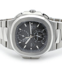 dial Patek Philippe Nautilius Travel-Time Chronograph 5990 steel pre-owned job full set from 2016 for sale online WATCH XCHANGE London with authenticity guaranteed