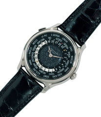 for sale Patek Philippe Worldtimer Moonphase 5575G 175th Anniversary white gold preowned dress watch for sale online at A Collected Man London rare watch specialist