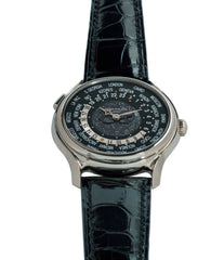 preowned luxury Patek Philippe Worldtimer Moonphase 5575G 175th Anniversary white gold preowned dress watch for sale online at A Collected Man London rare watch specialist