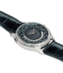 selling Patek Philippe Worldtimer Moonphase 5575G 175th Anniversary white gold preowned dress watch for sale online at A Collected Man London rare watch specialist