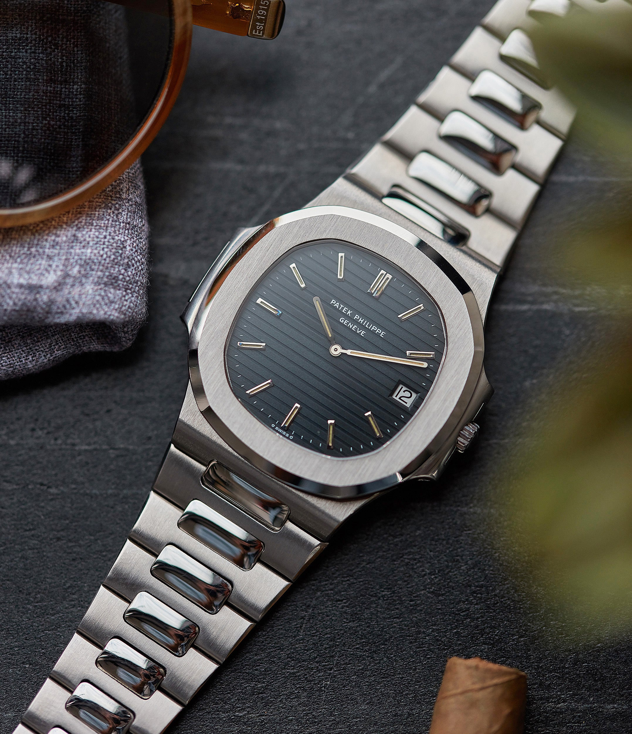 Patek Philippe Nautilus 3700/001 full set vintage sport watch for sale online at A Collected Man London UK specialist of rare watches