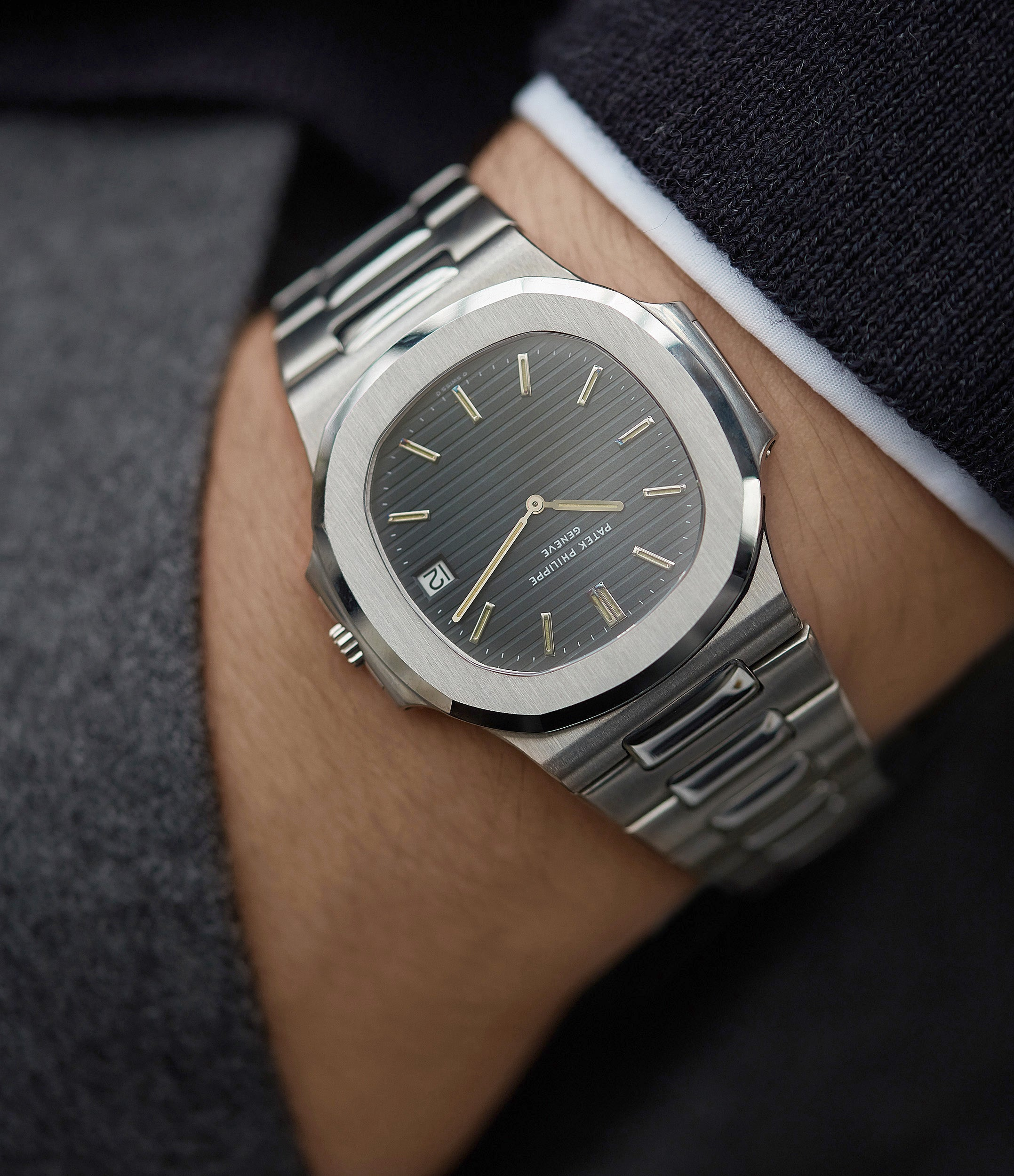 3700/001A Patek Philippe Nautilus vintage sport watch for sale online at A Collected Man London UK specialist of rare watches