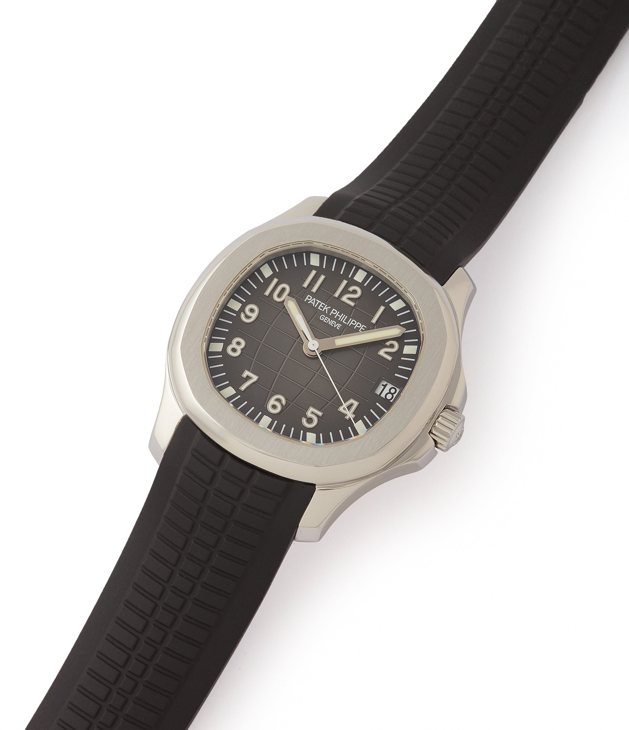 shop pre-owned Patek Philippe Aquanaut 5165A-001 transitional steel sport watch for sale online at A Collected Man London UK specialist of rare watches