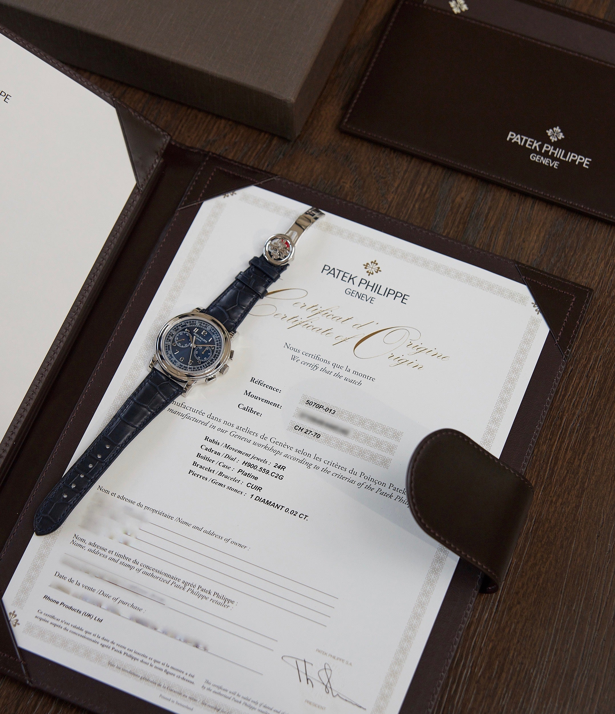 pre-owned watch Patek Philippe 5070P Saatchi Limited Edition blue dial platinum pre-owned watch for sale online A Collected Man London UK specialist of rare watches