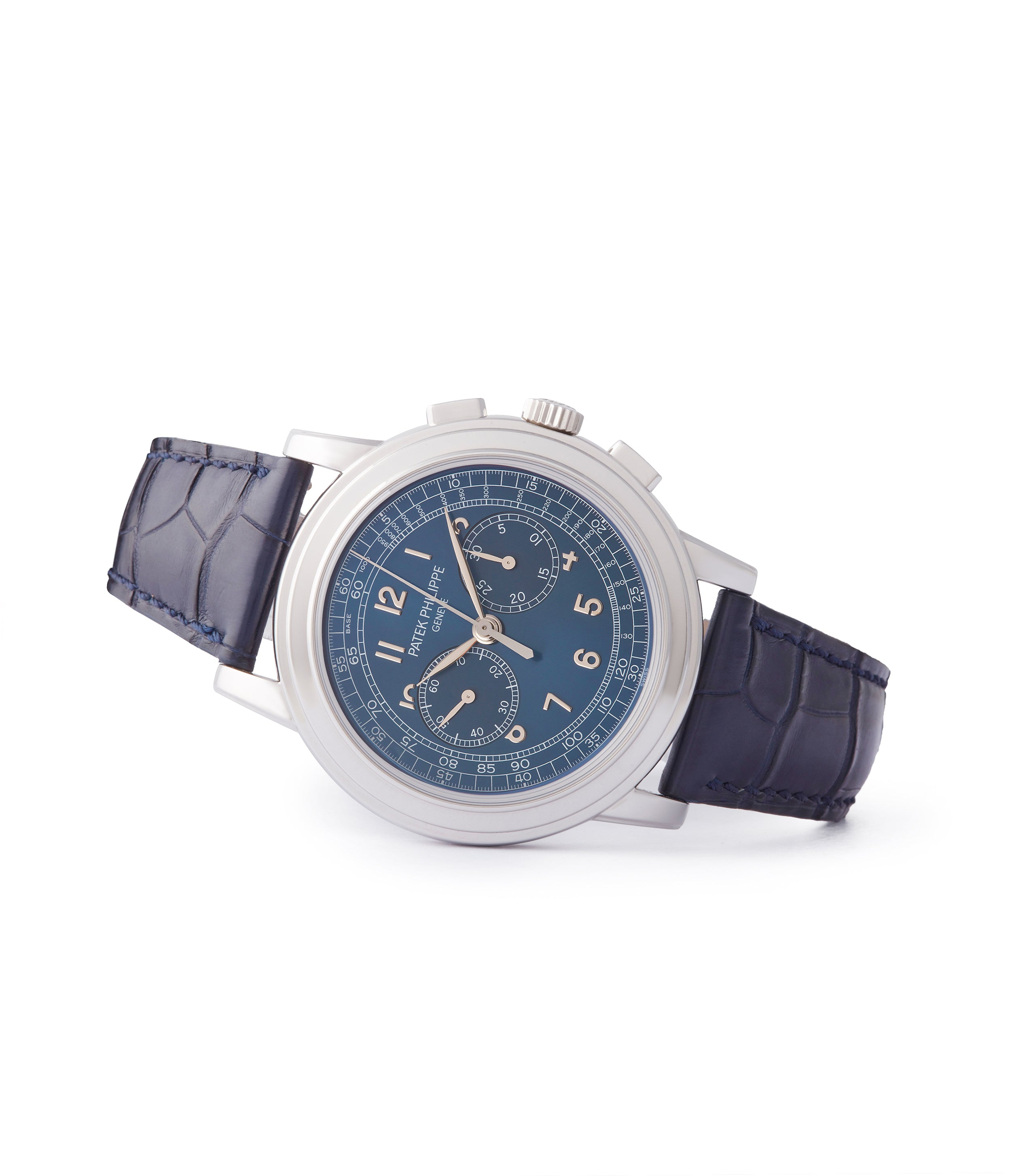 rare Patek Philippe 5070P Saatchi Limited Edition blue dial platinum pre-owned watch for sale online A Collected Man London UK specialist of rare watches