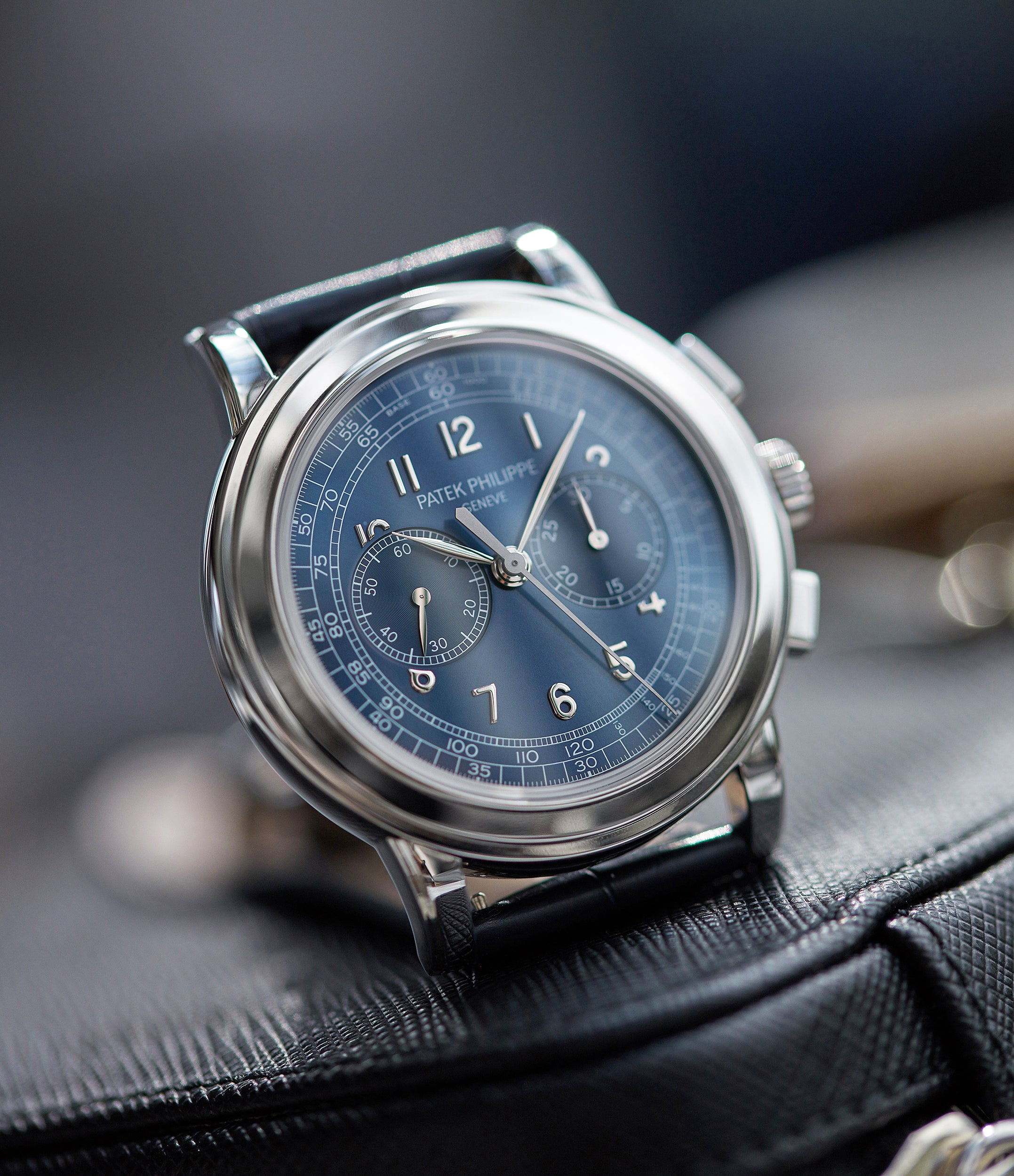 buying Patek Philippe 5070P Saatchi Limited Edition blue dial platinum pre-owned watch for sale online A Collected Man London UK specialist of rare watches