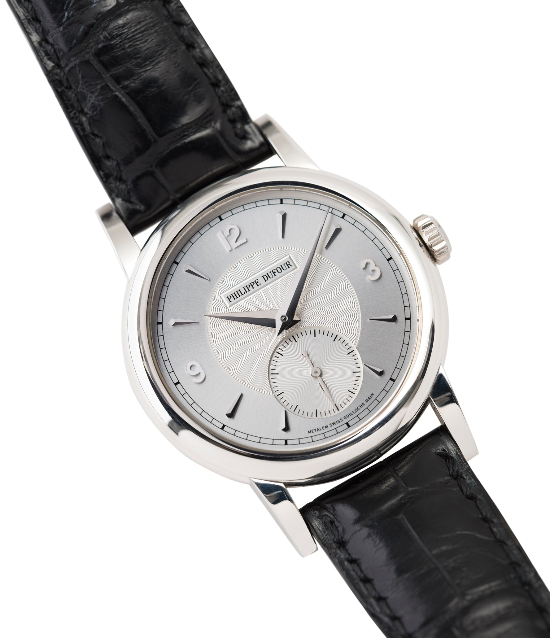 buying Philippe Dufour Simplicity platinum time-only dress watch for sale online at A Collected Man London UK approved specialist of preowned independent watchmakers